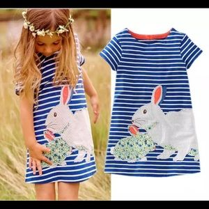 Other - Toddler girl easter bunny striped dress navy NWT